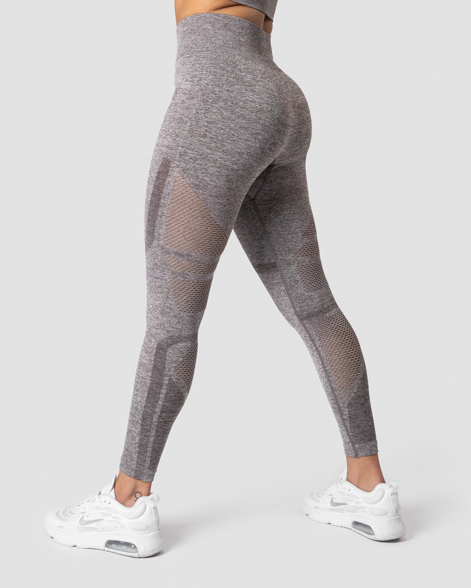 Queen Mesh 7/8 Tights Teak Melange Wmn